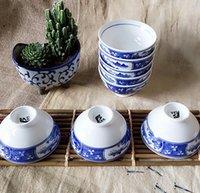 Wholesale Chinese style Blue And White Ceramic Rice Bowl Underglaze color Kitchen Utensils