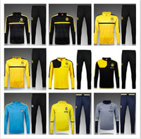 Wholesale 2016 Dortmund ksuit Sportswear training Suits men s Clothes Trackring suits Male Hoodies mix Yellow Training clothes