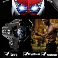 Wholesale 125W motorcycle spotlight auxiliary lamp super bright Cree U8 Wolverine led headlights accessories moto driving fog light