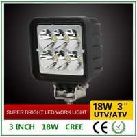 agricultural atv - 3 inch w CREE Led Work Light fog light For Jeep UTV ATV Truck Agricultural Machine Heavy Duty Boat Marine Sqare frame