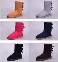 baileys sheepskin - Fashion Winter Australia Classic Womens Boots BAILEY Warm Fur Bow Boots Classic Tall Boots Girls Snow Boots for Women Boots