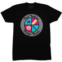achat en gros de tops hot pink-2017 nouveau style Hot Sales Stylish Hommes 3D Animal Print Rose Dolphin T-Shirts Neck Top T-shirt