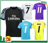 Wholesale 16 Real madrid Soccer Jersey Benzema Ronaldo Navas football Modric Kroos Sergio Ramos Bale Marcelo james Madrid home awa