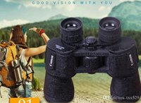 Wholesale 20X50 High quality Hd wide angle Central Zoom Portable LLL Night Vision Binoculars telescope Free shopping