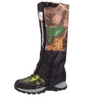 Wholesale 2Pcs Layers Outdoor Waterproof Hiking Hunting Camouflage Gaiters Skiing Walking Shin Leg Protector Equipment Y1214