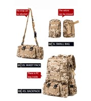 Wholesale one size fit all tractical backages outdoor bags pc inside