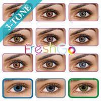 Wholesale 3 tone color blends contact lenses fresh contact lens colors in stock