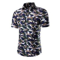 Wholesale Camiseta Atletico De Madrid Chemise Homme Manche Courte XL XL Camicia Uomo Camouflage Shirt Summer Short Sleeve Shirt