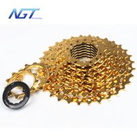 Cheap Hot sale free shipping New 11-36T 10 Speed cassette road bike gold Flywheel Mountain Bike Freewheel Bicycles Cassette Parts 30 speed