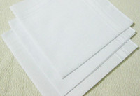 Wholesale Hot selling cotton male table satin handkerchief towboats square handkerchief whitest cm