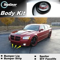 Wholesale Bumper Lip Lips For Dodge Magnum Front Skirt Deflector Spoiler For Car Tuning The Stig Recommend Body Kit Strip