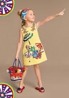 designer clothing - 2016 Summer Girl Dress Designer Dobby Baby Girls Dress Kids Clothes Sleeveless Shift Dress Children Clothing Kids Dresses for Girls