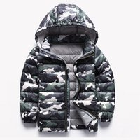 Wholesale Children Jackets Winter Boys Coats Camouflage Down Jackets For Kids Girls Children Clothing winter clothing