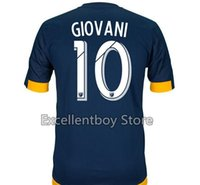 Wholesale Free shpping Thai Soccer Jersey La Galaxy Los Angeles Galaxy GIOVANI Home away Blue White football Shirt