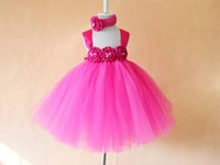 baby kids ware - 2016 new arrival baby party ware for girl with big flower kids fashion tutu dress and beautiful headband