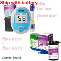 automatic blood analyzer - San Nuo freestyle code Glucometer strips lancets with analyzer blood Sugar glucose meter tester Detection Diabetes