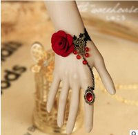 articles bangles - Europe and the United States foreign trade fashion DIY lace flower bracelet ring restoring ancient ways suit bride is small adorn article
