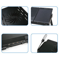 Wholesale Foldable Laptop Table Tray Desk Cooling Fan Tablet Desk Stand Bed Sofa Couch