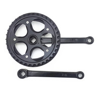 Wholesale New Bicycle Cranksets T mm Fixed Gear Cranks Chainrings Bicycle Crank Set Bike Chainset Parts MN0214