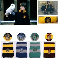 Wholesale Harry Porter scarf Gryffindor scarf knitted scarf badge stripes with men and women clothing Cosplay