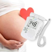 baby light display - Professional Home Use Large LCD Screen Back light Ultrasound Fetal Doppler Baby Heart Rate Monitor Prenatal Detection Device