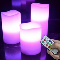 Wholesale 2016 Velas Candles Pc set color key Remote Led Electronic Candle Waves Mouth Timing Function Lights Decorate Wedding Props Colorful