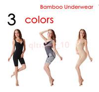bamboo slimming shapers - 100PCS HHA821 Bamboo Fiber Magic Slimming Underwear Shapers Underwear Women Bamboo Slimming BodyShaper Plus Size Waist Training Corset