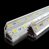 Wholesale SMD led bar light volt led light LEDs M LEDs M LEDs M led hard strip With V shaped Aluminum channel Warm Cool Pure White