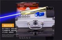 beam suits - nm Blue light Power Beam Cigarette Burning Laser Pointer Pen Suit Adjustable Golden Body m With Glasses BG008