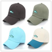 beach coolers - Fish Ball Caps Embroidery Baseball Cap Cool Sports Snapbacks Adjustable Snapback Men Women Lady Summer Beach Sun Hats Golf Hat