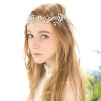 beaded clear rhinestones - Crystal Beaded Bridal Headband Crown Vintage Handmade Hair Vine Wedding Headpiece Silver Gold Leaf Wedding Hair Accessories In Stock