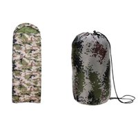 Wholesale New design Outdoor Camping Green Camouflage Envelope Sleeping Bag