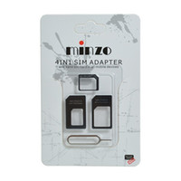 Wholesale 3 in For Nano to Micro Standard SIM Card Adapter for Apple For iPhone S For iPad Mini