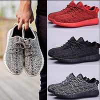 authentic arts - 2016 Authentic Original Kanye West Boost Low Men and Women Sports Outdoor Running Shoes All White red Gold Black Pink Boost