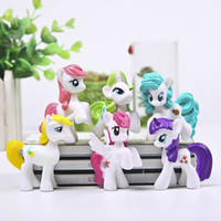Wholesale brinquedos cm Animation Little Horse Action Figure Toy Children s Love Rainbow Horse Poni baby Toys funko pop toy