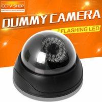 Wholesale Dome Fake Dummy Camera Security Camera Outdoor Indoor Waterproof Fake CCTV Surveillance Dummy Camera Flash IR LED