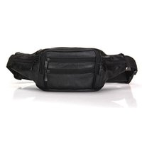 Wholesale Genuine Leather Waist Bag Outdoor Travel Sports Bag Hip Pouch Money Wallet Leisure Chest Bag Casual Crossbody Bag