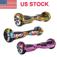 Wholesale USA STOCK Inches Camouflage Wheels Smart Balance Wheel Hoverboard Electric Skateboard Unicycle Drift Self Balancing Standing Scooter