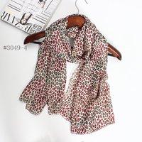90 * 180CM couleur de soie écharpe des femmes de style d'impression de léopard de couleur chaud hiver écharpes de marque de luxe femmes châles de mode 2016 nouvelle vente chaude