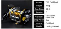 Wholesale left right hand BB baitcasting reels fishing reel Trolling Boat Wheel Drum fishing vessels Round Baitcast