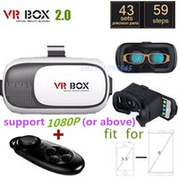 Wholesale VR Box II Version Vr Virtual Reality d Glasses Headmount Vrbox Gafas Lentes d Oculus Rift Dk2 Pc Bluetooth Controller