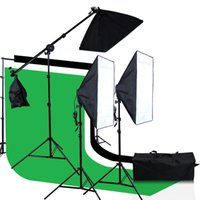 photographic stand - Photographic Equipment Suit m Background Support with backdrop v Softbox Light Stand and horizonal arm