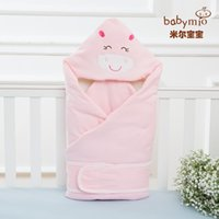 Wholesale Infant wrapping quilt natural colored cotton baby cover quilts anminal design colors
