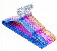 Wholesale 0701 cm Non Slip Metal Shirt Trouser Hook Hanger PVC Plastic And High Manganese Steel Hangers For Clothes Racks