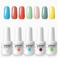 Wholesale 15ml Gelcolor Soak Off UV Gel Nail Polish Fingernail Beauty Nails Product colors Choose For Nail Art Design colors