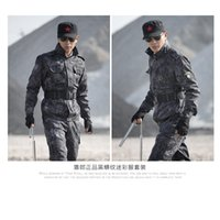 best fishing jacket - best quality army Black python pattern camo clothing hunting fishing jacket pants scratch camping outdoor equipment