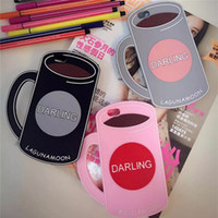 apple coffee mugs - Fashion D Silicone Shockproof Coffee Mug Cafe Cup Design Cell Phone Case Stylish Character Pattern Cell Phone Accessories for Iphone