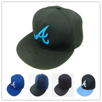 atlanta fitted - Atlanta Braves Fitted Caps A letter Full closure cap embroidered baseball team size flat Brim Braves hats