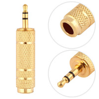 av headphone adapter - High quality mm Male to mm quot Female Jack Plug Stereo Headphone Microphone Audio Adapter Converter AV Gold Plated lt US no tra