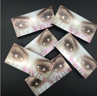 Wholesale 12 New Huda Beauty False Eyelashes Messy Cross Thick Natural Fake Eye Lashes Professional Makeup Beauty